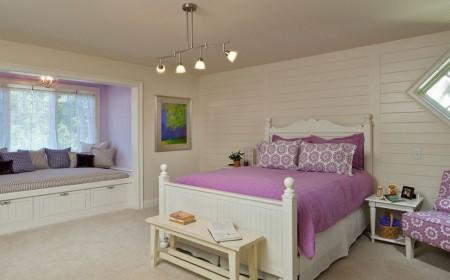 Poze Dormitor - Albul domina cromatic acest dormitor clasic
