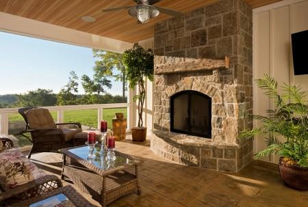 Poze Seminee, gratare gradina - Semineu clasic pentru terasa