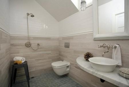baie moderna la mansarda