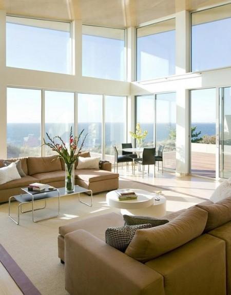 Poze Living - Living modern cu vedere la ocean