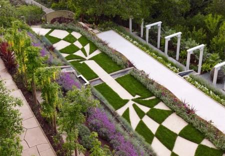Poze Gradina de flori - Succesiune de gradini terasate