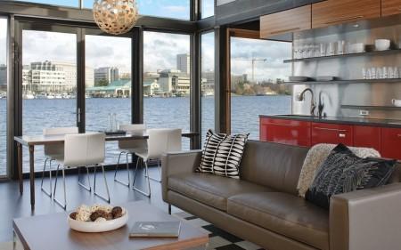 Poze Living - Zona de zi deschisa intr-o superba casa plutitoare