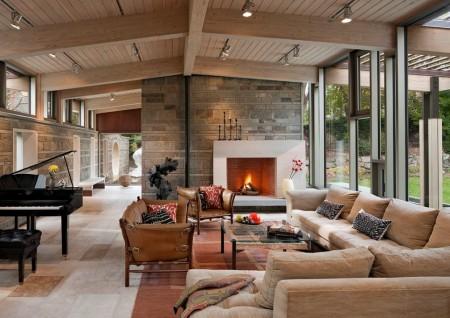 Poze Living - Decorarea unei case cu arhitectura moderna