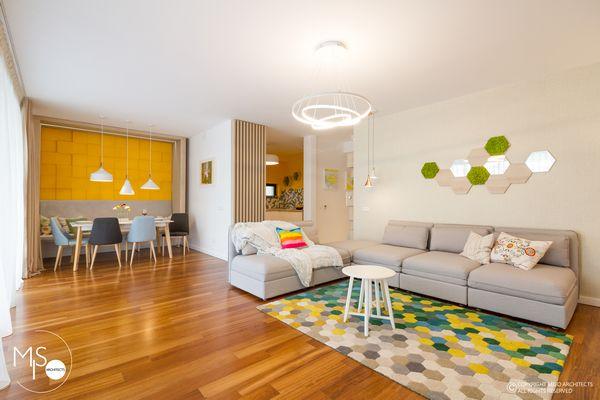 Apartamentul LEGO, un design interior modern plin de veselie si culoare