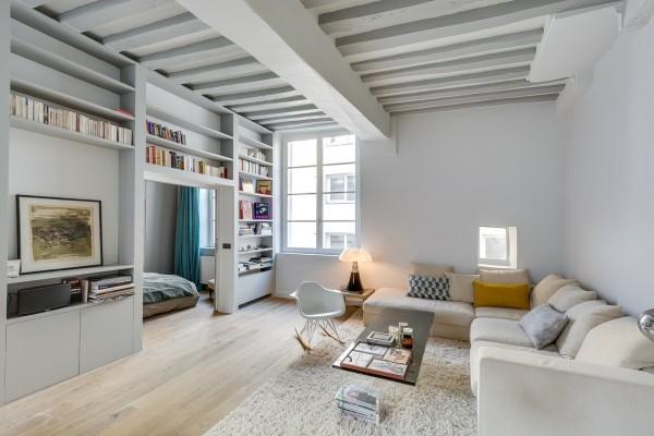 Confort, originalitate si farmec intr-un mic apartament parizian - galerie foto
