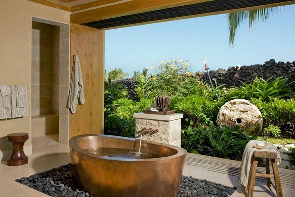 Mai aproape de natura: 55 de idei pentru o baie exterioara - Galerie foto
