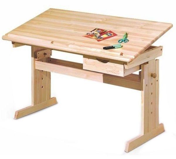 Birou lemn copii, inaltime reglabila