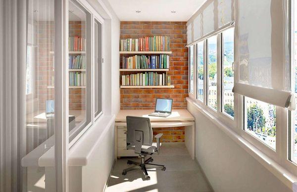 Biroul din balcon - idei pentru amenajarea unui spatiu de lucru acasa