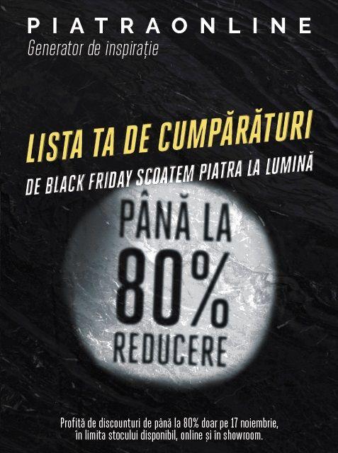 De Black Friday, PIATRAONLINE pregateste discounturi de pana la 80% la peste 100 de tone de piatra naturala
