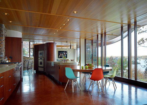 Bucatarie casa arhitectura moderna