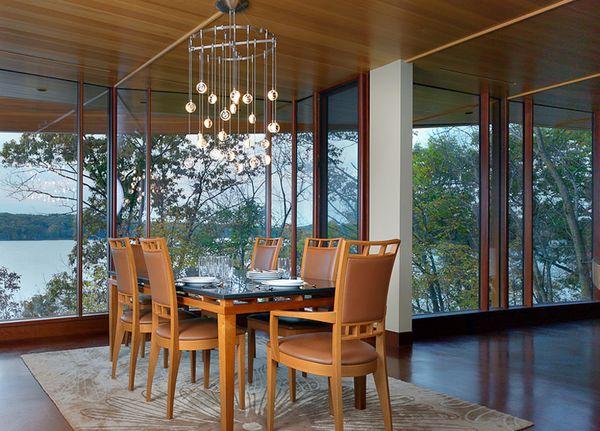 Sufragerie casa arhitectura moderna