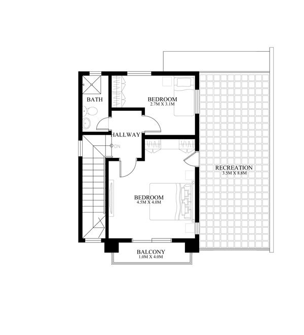 casa cu etaj pe un teren ingust - proiect etaj.jpg