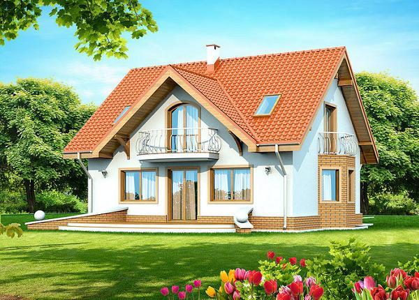 Casa cu mansarda pentru o familie cu copii - proiect de arhitectura si imagini