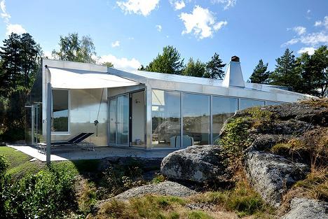 Casa cu fatada din aluminiu - galerie foto
