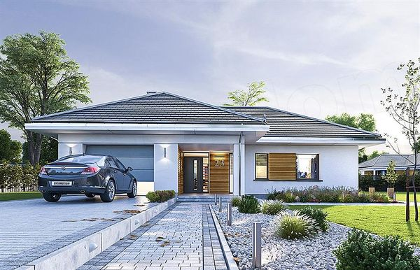 Casa moderna cu garaj, terasa si pod partial amenajat - imagini si proiect