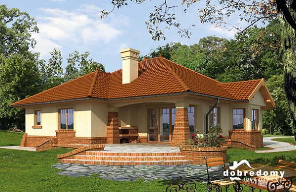 O casa incantatoare, fara etaj, cu garaj dublu si terase - proiect si imagini