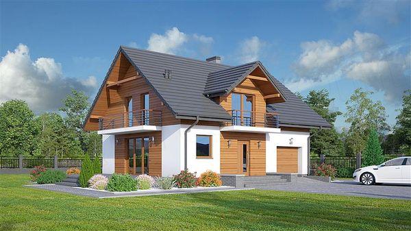 Casa frumoasa si confortabila cu garaj si 4 dormitoare - proiect si imagini
