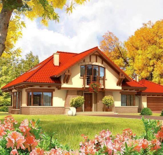 O casa frumoasa cu mansarda