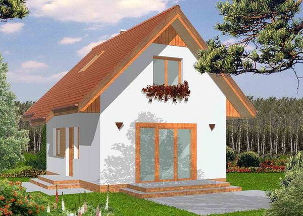 Proiecte de case mici cu mansarda la pret de apartament for Proiecte case mici cu mansarda gratis