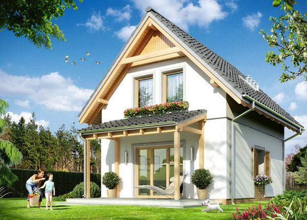 Proiecte de case mici cu mansarda la pret de apartament. Case ieftine si accesibile