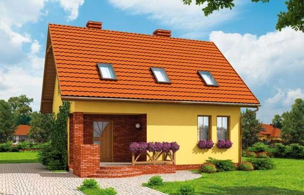 Casa mica si practica, cu sau fara garaj, pentru o familie cu 2 copii - proiecte si imagini