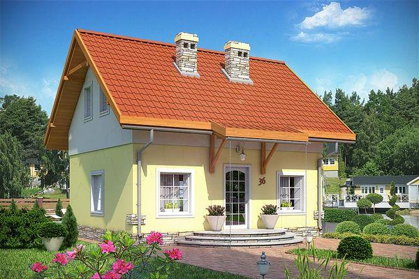 Casa mica si ieftina cu 3 dormitoare, totul pe doar 55 de mp - proiect si imagini