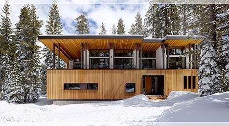 O casa la munte cu interioare calde si luminoase - galerie foto