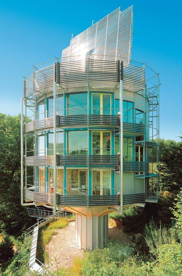 Casa ecologica care se roteste dupa soare