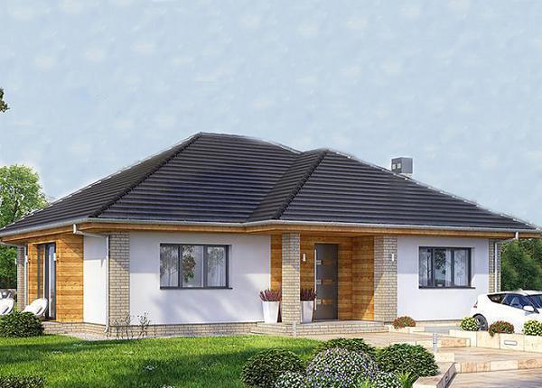 Proiect de casa pe un singur nivel cu suprafata de 150 mp si 3 dormitoare