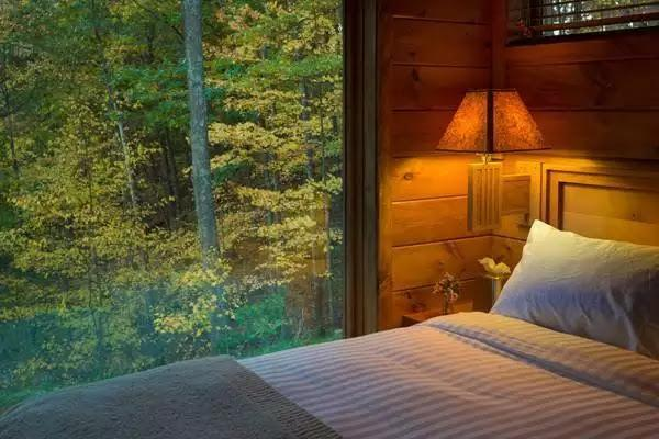 Casa de vacanta din lemn de 36 de metri patrati, dormitor