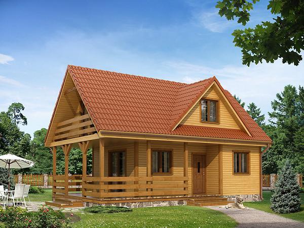 Proiect de casa de vacanta din structura usoara. O casa mica si ieftina cu 4 dormitoare
