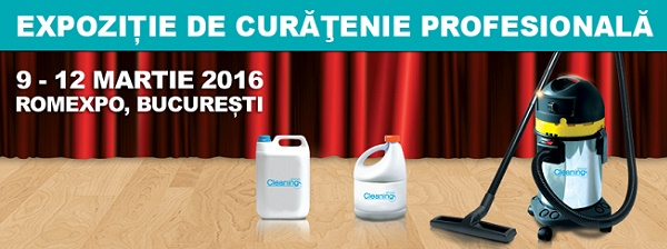 Cleaning Show - singura expozitie de curatenie profesionala din Romania are loc in martie la Romexpo