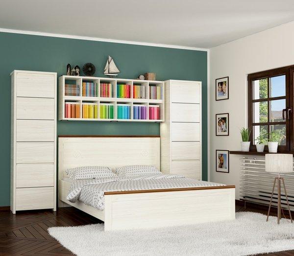 Dormitor modern cu mobila realizata din PAL melaminat