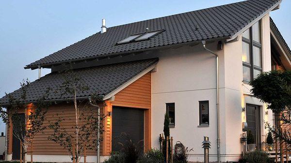 Casa cu garaj si 3 dormitoare cu arhitectura si design for Casa moderna romania