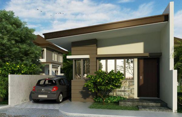 Case moderne mici si ieftine pentru familii tinere, cu garaj sau loc de parcare in curte - proiecte si imagini