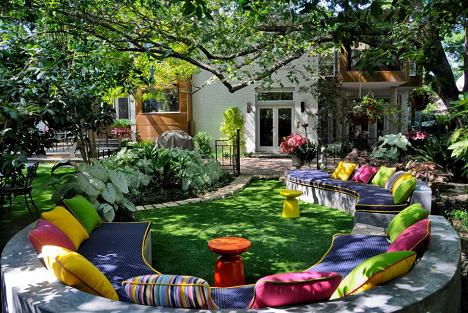 Culori vesele si relaxare in gradina - galerie foto