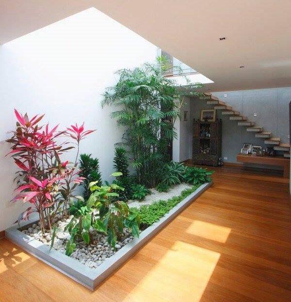 Idei pentru amenajarea unei gradini interioare - galerie imagini