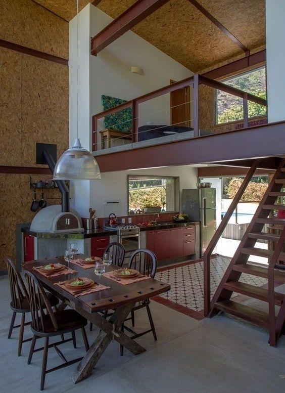 Interior minimalist-industrial etajat