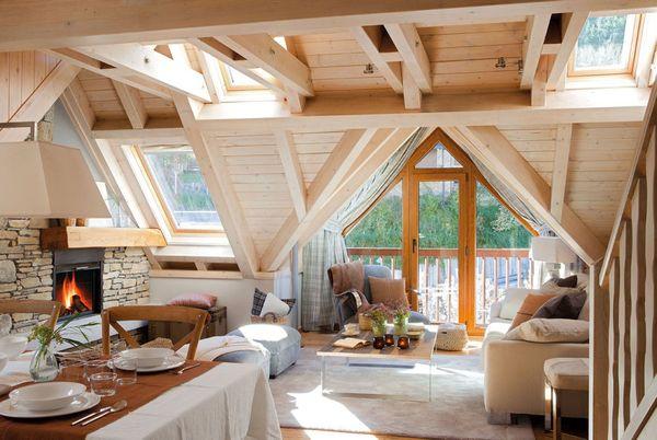 Casa din lemn cu mansarda de care te vei indragosti de indata