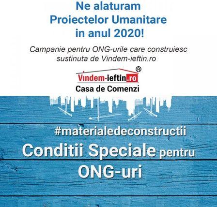 Vindem-Ieftin.ro ofera Beneficii ONG-urilor care au un Proiect de constructii in anul 2020!