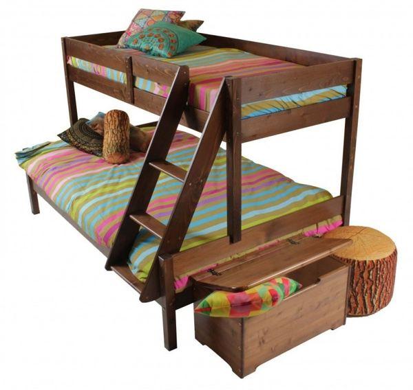 Pat etajat pentru copii, lemn