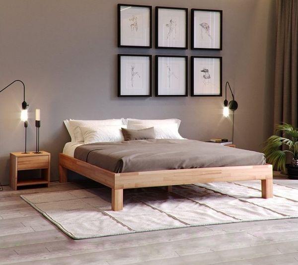 Paturi pentru dormitor din lemn masiv si cu un design modern