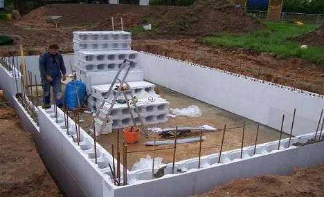 Piscine din cofraje de polistiren waincris piscine de vis for Constructie piscine