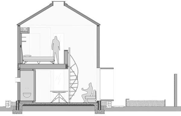 Plan casa moderna siloz