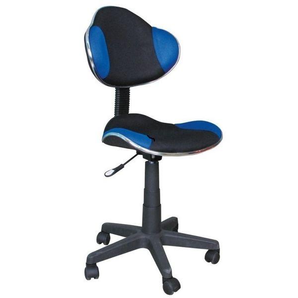 Scaun birou copii albastru-negru