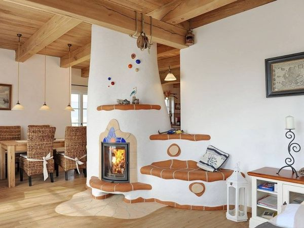 Sobe si seminee rustice, construite cu materiale naturale: caramida si lut. 9 modele de sobe ce incanta privirea