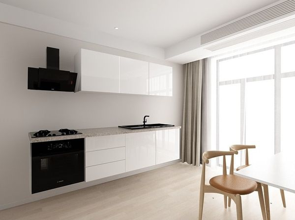 Set mobila bucatarie Cucina 1 Alb, MDF lucios