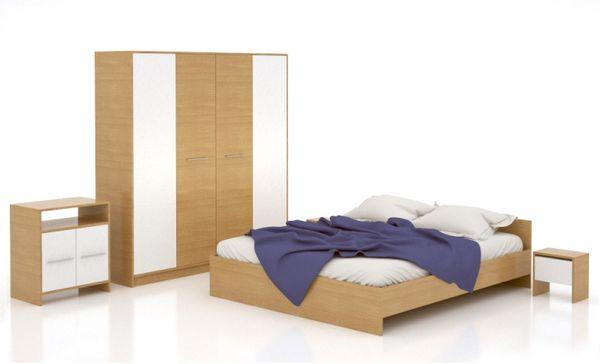 Set mobila dormitor ieftina Lorena