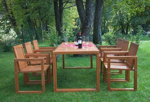 Set mobilier gradina modern, lemn masiv