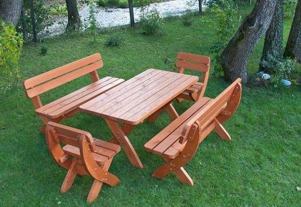 mobiler de gradina lemn masiv